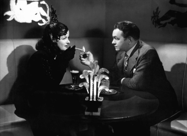 "Joan Bennett and Edward G. Robinson in ""Woman in the Window,"" screening tonight and Friday at Cinema Under the Stars."