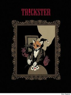 The Mike Mignola designed cover of the limited edition book available at Tr!ckster convention to be held at the San Diego Wine and Culinary Center during Comic-Con. 