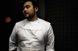 "Rock star chef David Chang. The founder of the Momofuku empire of noodle bar, restaurants and bakeries is now editing a new iPhone app and food magazine called ""Lucky Peach."""