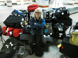 Scottish actor, writer and comedian Billy Connelly is ready to set out on an adventure of a lifetime with his luggage packed.