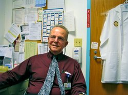 Dr. Chris Mathews founded the Owen clinic in 1983, and still directs it. He says the early days of the AIDS epidemic were frightening.