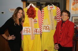 Elyse Luray (left) speaks with Hazel Polakov (right), the widow of Michael Polakov who played 'Ronald McDonald' in the first national ad campaign. Did he wear our contributor's costume?