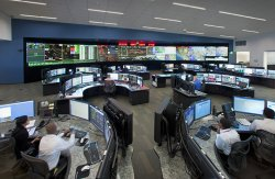The ISO Control Room in Folsom operates around the clock, 365 days a year, directing the flow of electricity and ensuring access to 25,000 circuit miles of high-voltage, long distance power lines.
