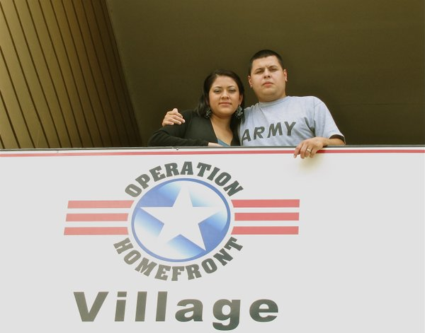 Ivan and Mireya, both 25, outside their San Antonio apartment.