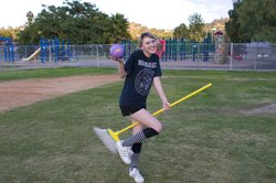 Bridget Fitch just graduated from Helix High. She played Quidditch throughout her senior year in high school.