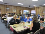 Residents of Reserve, New Mexico play bingo at the senior center every Friday.