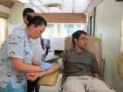 Students at the Instituto Tecnológico de Delicias school in the northern Mexican state of Chihuahua recently donated blood in a truck donated by the non-profit United Blood Services from El Paso, Texas.