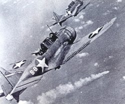 "Archive image of planes used in ""Battle Of Midway"""