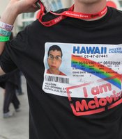 McLovin's driver's license. These t-shirts show how Comic-Con is about all things pop culture, not just comic book characters.