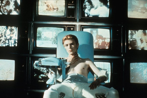 "David Bowie as the alien Thomas Newton in ""The Man Who Fell to Earth."""