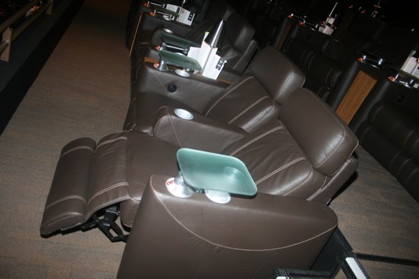 The recliner leather chairs at Cinepolis Luxury Cinemas.