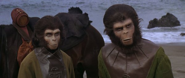 "Kim Hunter and Roddy McDowell in ""Planet of the Apes,"" recently released on Blu-ray in a 40th Anniversary box set."
