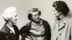 The founders of the Save San Francisco Bay Association, (L to R) Esther Gulick, Sylvia McLaughlin, and Catherine Kerr.
