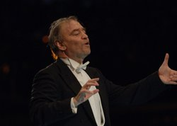 Guest conductor Valery Gergiev leads the Vienna Philharmonic in Schnbrunn Palaces magnificent baroque gardens, site of &quot;Vienna Philharmonic Summer Night 2011&quot;