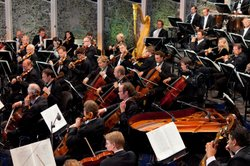 The Vienna Philharmonic perform in Schnbrunn Palaces magnificent baroque gardens, site of &quot;Vienna Philharmonic Summer Night 2011&quot;