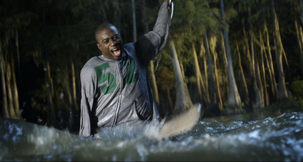"Sinqua Walls as the film's token black in ""Shark Night 3D."""