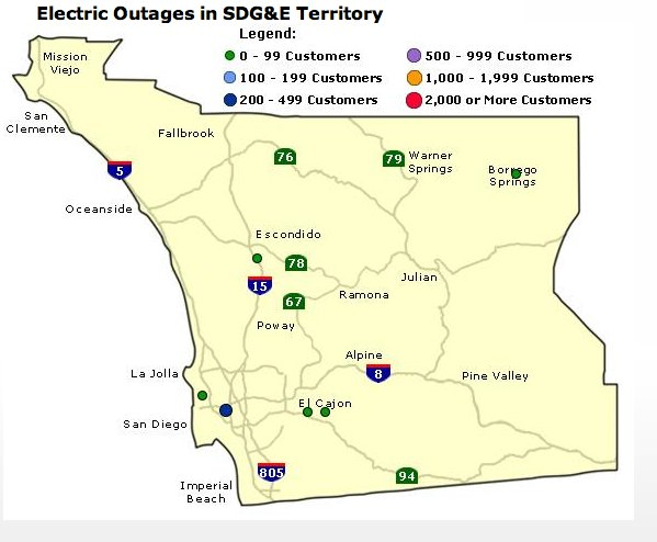 sdge power outage map with 12274 on 6130341140 moreover 10000 Hit By Power Outage In City Heights Chollas View Oak Park additionally 12274 besides Hot Santa Ana Winds Buffet Region Cause Power Outage besides Sdge Outage Map.