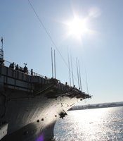 About 2,500 people attended the 9/11 commemorative event aboard the USS Midway. 