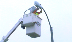 The City of San Diego is upgrading 80 percent of the its street lights to energy-efficient fixtures that produce a whiter light that is more like sunlight.