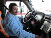 Frank Ochoa is a driver for Omega Trucking. He delivers construction material to job sites all over the United States.
