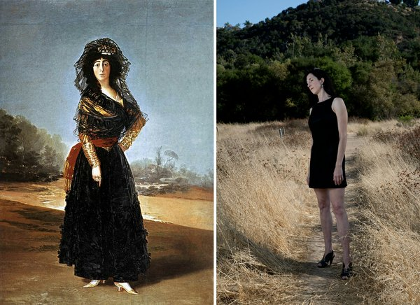 One of Goya's Gentlemen's Paintings and one of Rebecca Webb's photos from the exhibit.