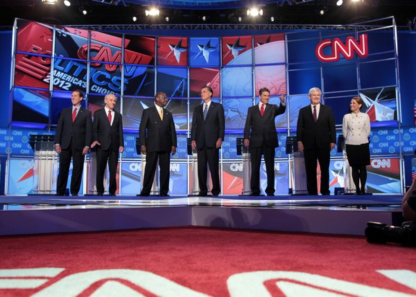 Republican presidential hopefuls faced off in Las Vegas on Oct. 18.