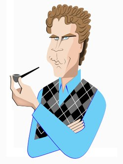 A caricature of Will Ferrell, winner of the Mark Twain Prize.
