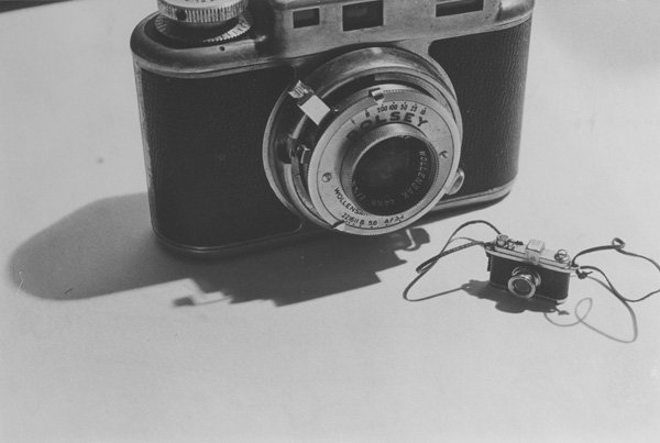 Laurie Simmons. Big Camera, Small Camera. 1977. Collection of B.Z. and Michael Schwartz.
