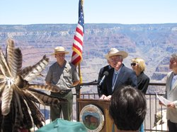 Interior Secretary Ken Salazar talks about plan to extend moratorium on uranium mining on land surrounding Grand Canyon National Park