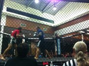Two amateur fighters battle each other at an Epic Fighting event in San Diego.