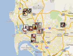 Screen grab taken from an internet site that advertises escort services in San Diego.
