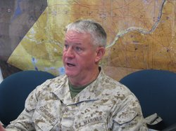 "Major General Charles ""M"" Gurganus, Commanding General, I Marine Expeditionary Force,  speaking to reporters, Oct 31st 2011"