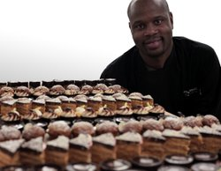 Pastry chef Andrew Higgins with an array of truffle creations. 