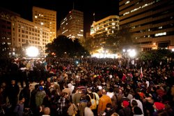 Occupy Oakland protesters demonstrate on Nov. 2, 2011.