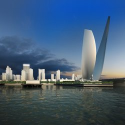 "A rendering of the ""Wings of Freedom"" sculpture being proposed for the tip of Navy Pier in downtown San Diego."