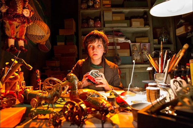"Asa Butterfield as Hugo Cabret in ""Hugo."""