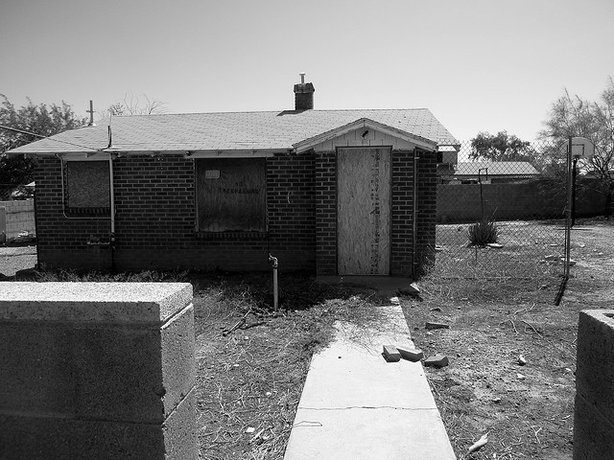 A foreclosed home in suburban Phoenix. 