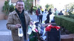 Jorge Andrés Velasquez Gomez, from Guadalajara, spent all night shopping at the Las Americas outlet mall in San Ysidro.