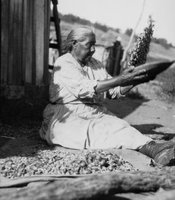 Delores Renterias (tribal affiliation unknown) is shown near Palomar Mountain in this 1930 photo.