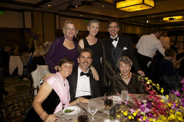 The gala included a special tribute to KPBS supporter Danah Fayman.  Members of Ms. Fayman's family attended the event. Bottom left to right: Bruce Fayman, Katey Alexander and Danah Fayman.  Top left to right: Kate Colby, Maria Carerra, and Corey Fayman.