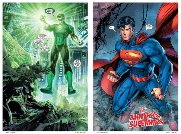Panels featuring art by Jim Lee from the DC New 52.