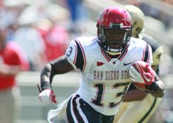 SDSU Running Back Ronnie Hillman in a game against the Cadets of West Point