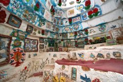 One of the interior shrines Knight built inside a portion of Salvation Mountain.