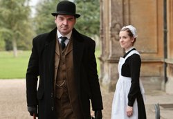 Brendan Coyle as John Bates and Joanne Froggatt as Anna Smith. 