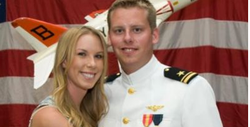 This 2011 photo provided by the Reis family shows Karen Reis, left, and her brother David Reis at his winging ceremony for the Navy.