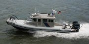 A 33-foot patrol boat used by the Dept. of Homeland Security.
