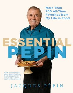 "Graphic cover of ""Essential Pépin,"" the companion book to the television series."