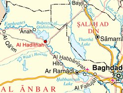 Location of Haditha in Iraq.