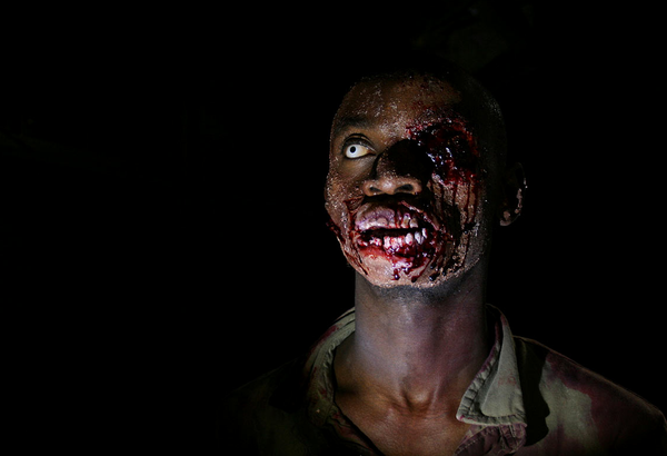 A zombie from &quot;The Dead.&quot;