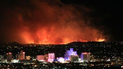 "@JustinNOAA tweets: ""Stunning photo of Caughlin Fire in Reno, taken at 1:00 am by NOAA's Alexander Hoon."""